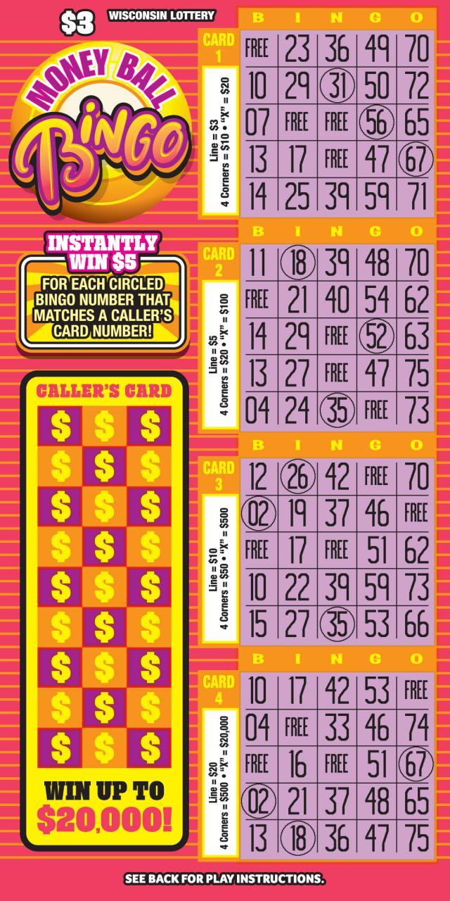 MONEY BALL BINGO (2181) | Wisconsin Lottery