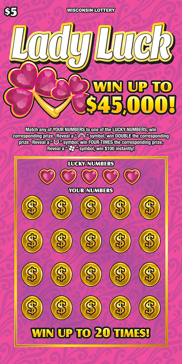 image of scratch ticket with all pink background and pink hearts on scratch ticket from wisconsin lottery