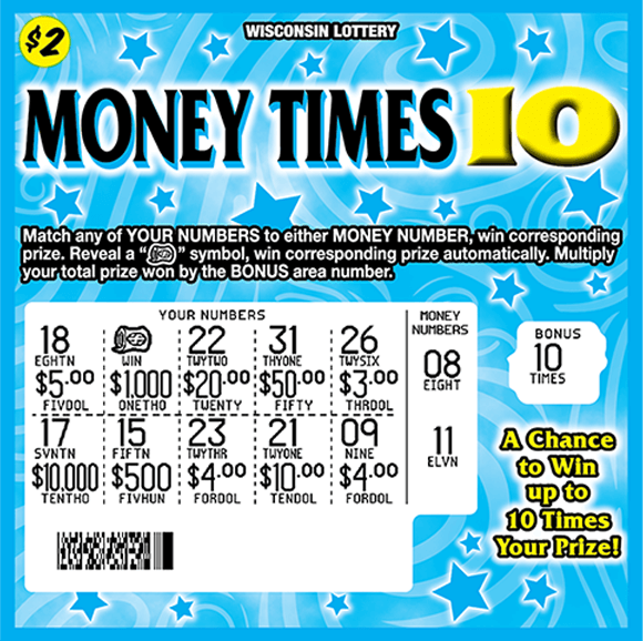 image of ticket with a blue background containing stars and swirls play area is scratched revealing white background and winning numbers on scratch ticket from wi lottery