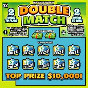 Double Match 2098 Wisconsin Lottery